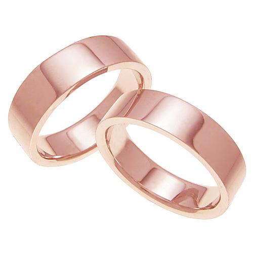 ペアリング 結婚指輪 マリッジリング 平打ちリング 6ミリ K18ゴールド プロポーズ【ペアリング・平打ちリング・6mm幅・K18ピンクゴールド】