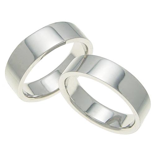 ペアリング 結婚指輪 マリッジリング 平打ちリング 6ミリ K18ホワイトゴールド プロポーズ【ペアリング・平打ちリング・6mm幅・K18ホワイトゴールド】