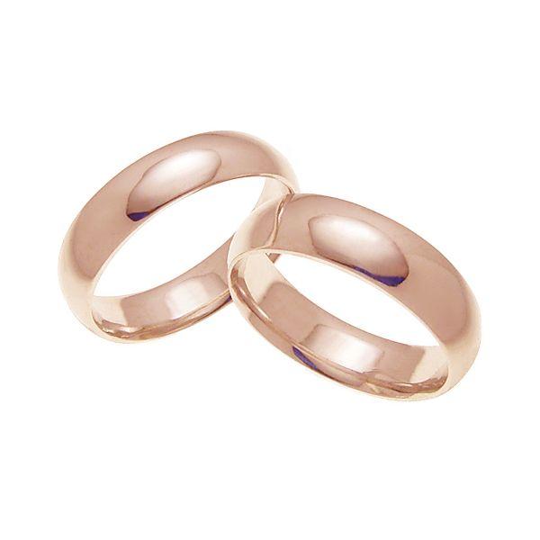 ペアリング 結婚指輪 マリッジリング 甲丸リング 6ミリ K18ゴールド プロポーズ【ペアリング・甲丸リング・6mm幅・K18ピンクゴールド】