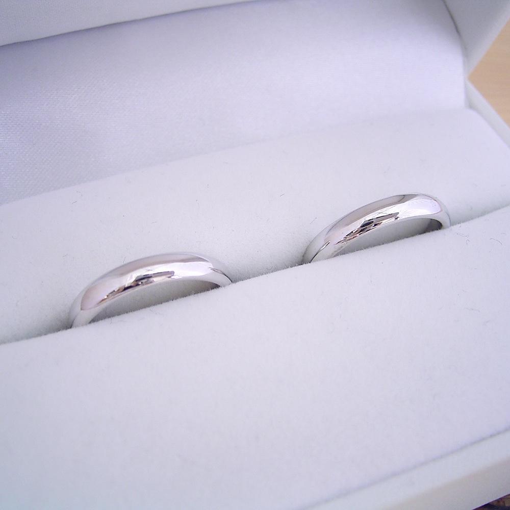 1万円 結婚指輪 ペアリング マリッジリング 甲丸リング 2本セット シルバー ケース 磨き布 ラッピング袋 メッセージカード付き 送料無料