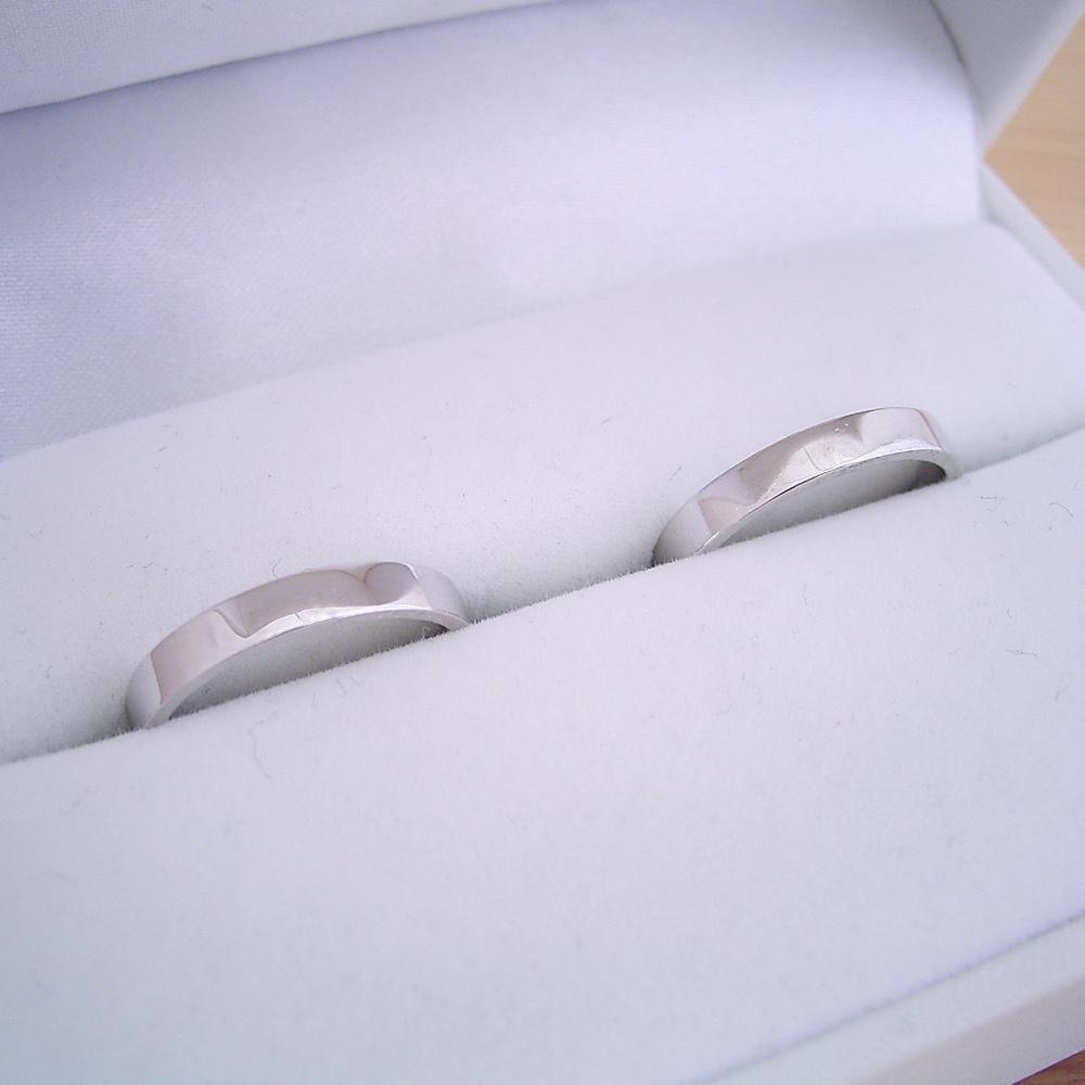 1万円 結婚指輪 ペアリング マリッジリング 平打ちリング 2本セット シルバー ケース 磨き布 ラッピング袋 メッセージカード付き 送料無料