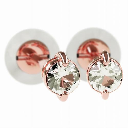 一粒 ダイヤモンド スタッドピアス 合計0.1ct 2本爪 K18ピンクゴールド ピアス ジュエリー レディース かわいい 可愛い 華奢 おしゃれ 結婚 結婚式 ウェディング 誕生日 プレゼント 贈り物 送料無料
