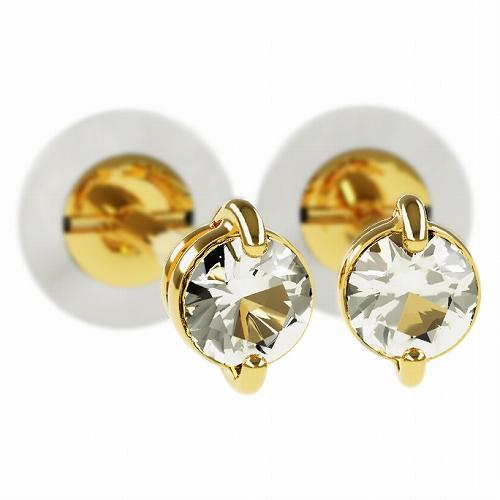 一粒 ダイヤモンド スタッドピアス 合計0.1ct 2本爪 K18ゴールド ピアス ジュエリー レディース かわいい 可愛い 華奢 おしゃれ 結婚 結婚式 ウェディング 誕生日 プレゼント 贈り物 送料無料