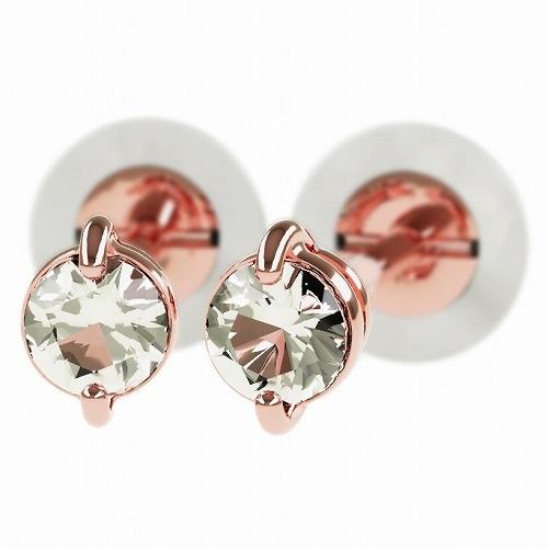 一粒 ダイヤモンド スタッドピアス 合計0.3ct 2本爪 K18ピンクゴールド ピアス ジュエリー レディース かわいい 可愛い 華奢 おしゃれ 結婚 結婚式 ウェディング 誕生日 プレゼント 贈り物 送料無料