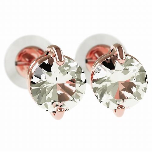一粒 ダイヤモンド スタッドピアス 合計0.5ct 2本爪 プラチナ K18 K18ピンクゴールド ピアス ジュエリー レディース かわいい 可愛い 華奢 おしゃれ 結婚 結婚式 ウェディング 誕生日 プレゼント 贈り物 送料無料