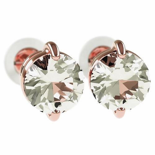 一粒 ダイヤモンド スタッドピアス 合計1.0ct 2本爪 プラチナ K18 K18ピンクゴールド ピアス ジュエリー レディース かわいい 可愛い 華奢 おしゃれ 結婚 結婚式 ウェディング 誕生日 プレゼント 贈り物 送料無料