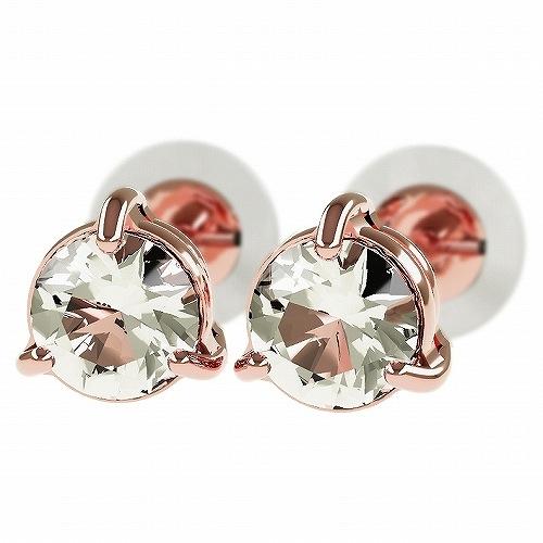 一粒 ダイヤモンド スタッドピアス 合計0.4ct 3本爪 K18ピンクゴールド ピアス ジュエリー レディース かわいい 可愛い 華奢 おしゃれ 結婚 結婚式 ウェディング 誕生日 プレゼント 贈り物 送料無料