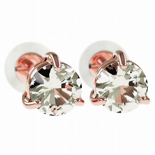 一粒 ダイヤモンド スタッドピアス 合計0.5ct 3本爪 プラチナ K18 K18ピンクゴールド ピアス ジュエリー レディース かわいい 可愛い 華奢 おしゃれ 結婚 結婚式 ウェディング 誕生日 プレゼント 贈り物 送料無料