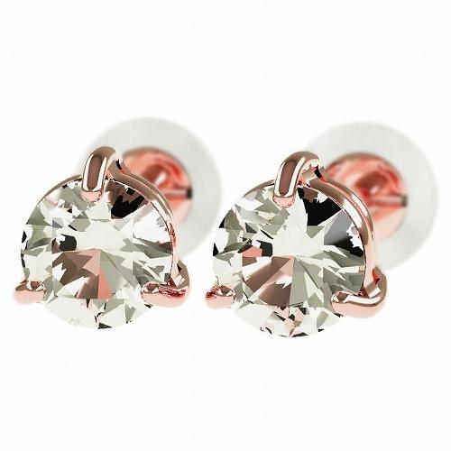 一粒 ダイヤモンド スタッドピアス 合計0.6ct 3本爪 プラチナ K18 K18ピンクゴールド ピアス ジュエリー レディース かわいい 可愛い 華奢 おしゃれ 結婚 結婚式 ウェディング 誕生日 プレゼント 贈り物 送料無料