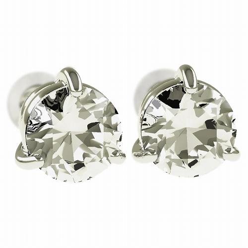 一粒 ダイヤモンド スタッドピアス 合計2.0ct 3本爪 プラチナ K18 K18ピンクゴールド ピアス ジュエリー レディース かわいい 可愛い 華奢 おしゃれ 結婚 結婚式 ウェディング 誕生日 プレゼント 贈り物 送料無料