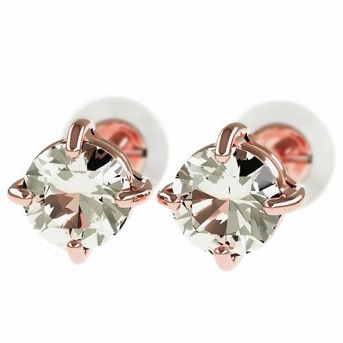 一粒 ダイヤモンド スタッドピアス 合計0.6ct 4本爪 プラチナ K18 K18ピンクゴールド ピアス ジュエリー レディース かわいい 可愛い 華奢 おしゃれ 結婚 結婚式 ウェディング 誕生日 プレゼント 贈り物 送料無料