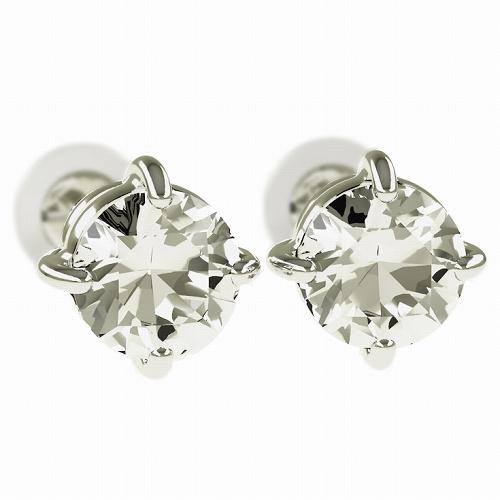 一粒 ダイヤモンド スタッドピアス 合計1.0ct 4本爪 プラチナ K18 K18ピンクゴールド ピアス ジュエリー レディース かわいい 可愛い 華奢 おしゃれ 結婚 結婚式 ウェディング 誕生日 プレゼント 贈り物 送料無料