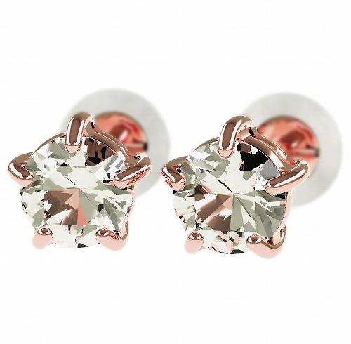 一粒 ダイヤモンド スタッドピアス 合計0.6ct 5本爪 プラチナ K18 K18ピンクゴールド ピアス ジュエリー レディース かわいい 可愛い 華奢 おしゃれ 結婚 結婚式 ウェディング 誕生日 プレゼント 贈り物 送料無料
