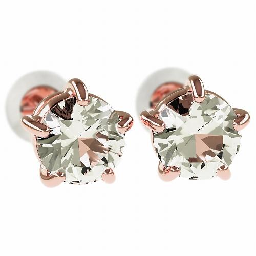 一粒 ダイヤモンド スタッドピアス 合計1.0ct 5本爪 プラチナ K18 K18ピンクゴールド ピアス ジュエリー レディース かわいい 可愛い 華奢 おしゃれ 結婚 結婚式 ウェディング 誕生日 プレゼント 贈り物 送料無料