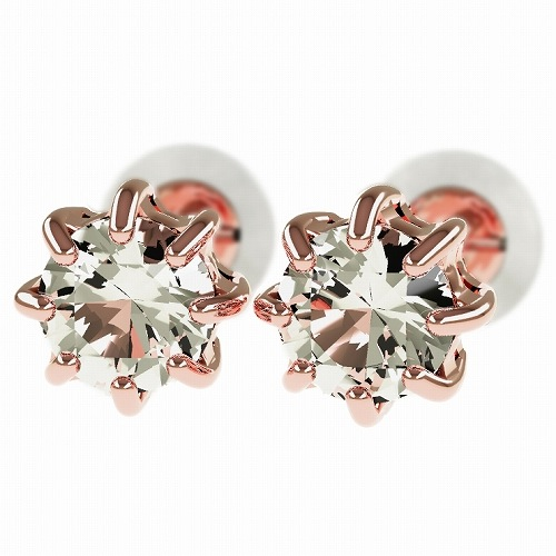 一粒 ダイヤモンド スタッドピアス 合計0.6ct 8本爪 プラチナ K18 K18ピンクゴールド ピアス ジュエリー レディース かわいい 可愛い 華奢 おしゃれ 結婚 結婚式 ウェディング 誕生日 プレゼント 贈り物 送料無料
