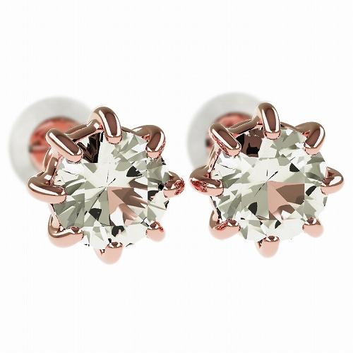一粒 ダイヤモンド スタッドピアス 合計1.0ct 8本爪 プラチナ K18 K18ピンクゴールド ピアス ジュエリー レディース かわいい 可愛い 華奢 おしゃれ 結婚 結婚式 ウェディング 誕生日 プレゼント 贈り物 送料無料