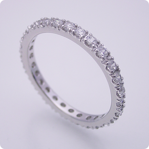 フルエタニティリング【婚約指輪】エンゲージリング【ダイヤモンド】ブライダルジュエリー【プラチナ】結婚指輪【マリッジリング】サイドがスッキリでシンプルなフルエタニティリング【宝石鑑別書付き】