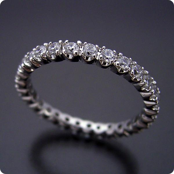 フルエタニティリング【婚約指輪】エンゲージリング【ダイヤモンド】ブライダルジュエリー【プラチナ】結婚指輪【マリッジリング】最高品質のダイヤモンドで作るフルエタニティリング【宝石鑑別書付き】