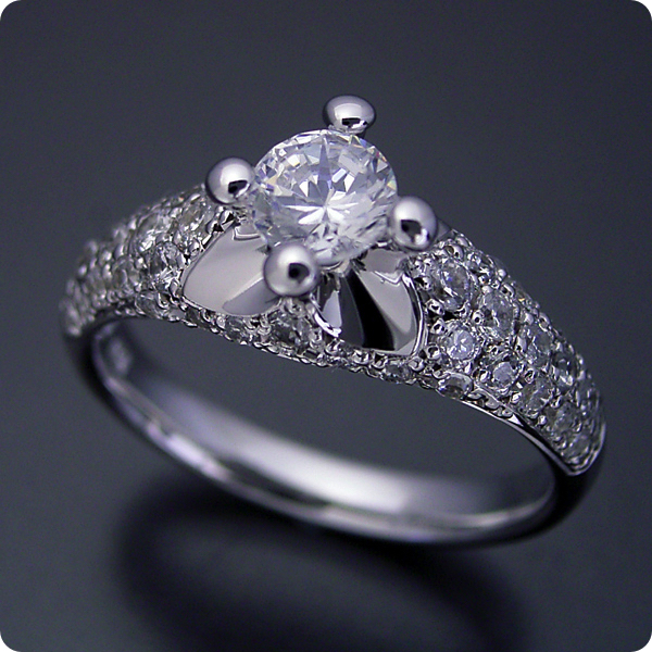 【婚約指輪】エンゲージリング【ブルガリ】一粒【0.3カラット】ダイヤモンド【ブライダルジュエリー】プラチナ【結婚指輪】マリッジリング【柔らかい印象の可愛い婚約指輪】Dカラー・VVS1クラス・Excellentカット・H&Q【宝石鑑定書付き】