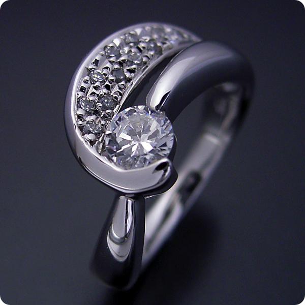 【婚約指輪】エンゲージリング【0.3ct】】一粒【0.3カラット】ダイヤモンド【ブライダルジュエリー】プラチナ【結婚指輪】マリッジリング【蝶々をモチーフとした婚約指輪】Dカラー・VVS1クラス・Excellentカット・H&Q【宝石鑑定書付き】