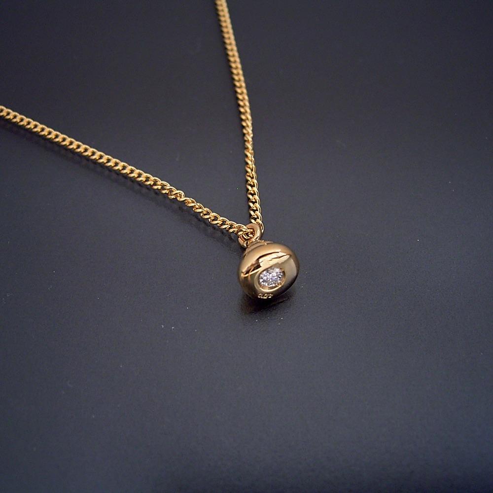 金のうんこ ネックレス ペンダント 18金 シルバー ゴールドメッキ ダイヤモンド ゴールド ウンコ うんち ウンチ プレゼント サプライズ
