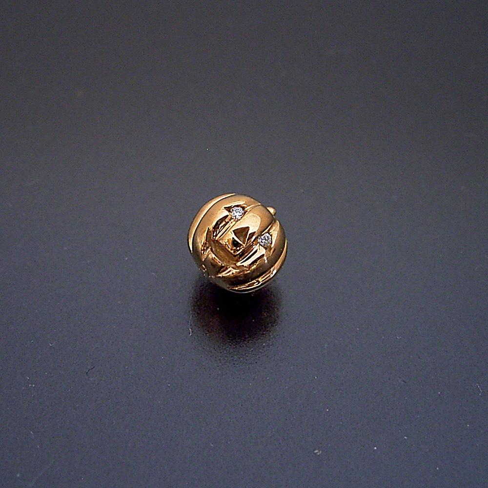 ハロウィーン 18金 ゴールデン カボチャ ダイヤモンド 誕生石 金のうんこ