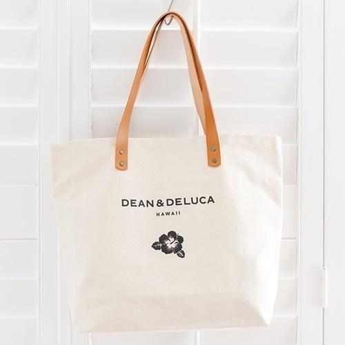 【送料無料】DEAN&DELUCA ハワイ限定 レザーハンドルトートバックL