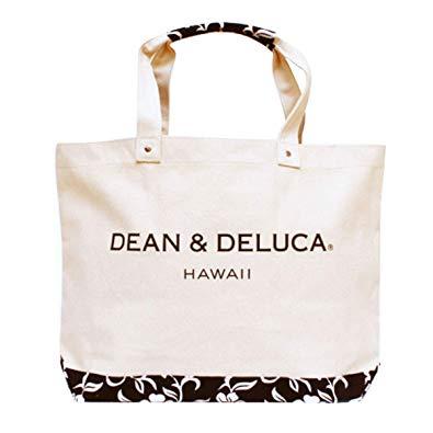 【送料無料】DEAN&DELUCA ハワイ限定 ハイビスカス柄Deluxeサイズトートバック