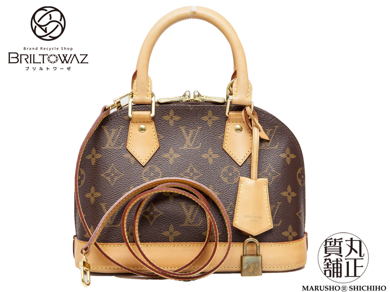 5bc1c8c5bbf5 Diagonally over the Louis Vuitton Alma BB M53152 Monogram handbags shoulder  2WAY LOUISVUITTON LV USED products (M203596)