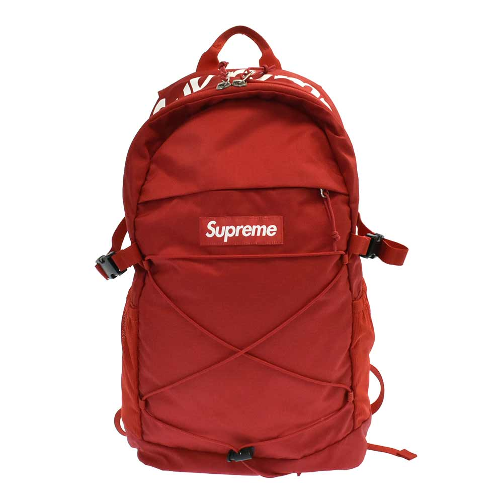 SUPREME(シュプリーム)16SS Tonal Backpack ロゴバックパック リュック レッド【中古】【程度A】【カラーレッド】【取扱店舗渋谷】