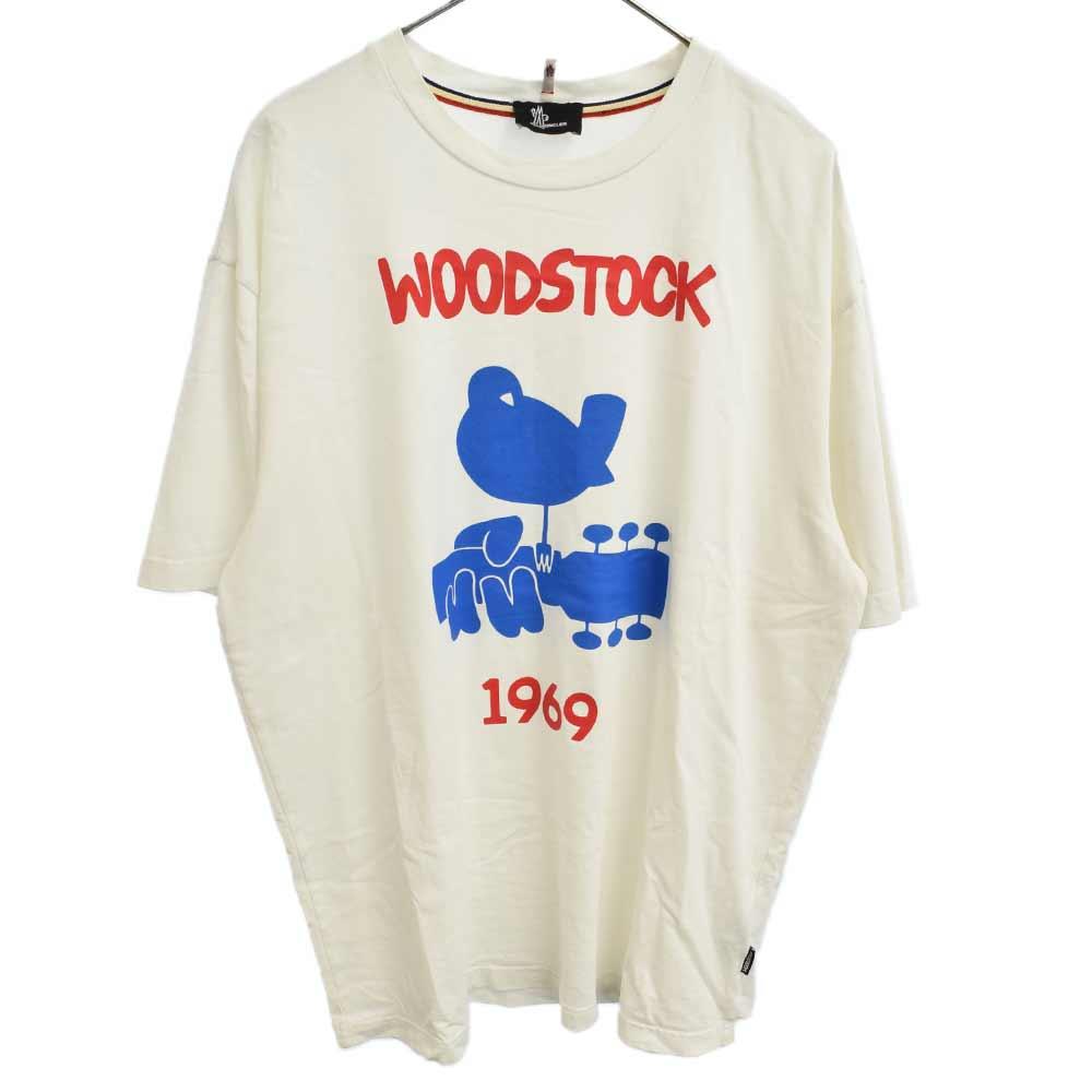 MONCLER GRENOBLE モンクレールグルノーブル 百貨店 Woodstock クルーネック半袖Tシャツ 注文後の変更キャンセル返品 ホワイト オンライン限定商品 E20978002350 カラーホワイト 程度AB 中古