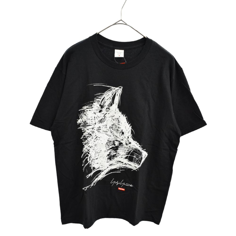 SUPREME シュプリーム ×Yohji Yamamoto 20AW Scribble Wolf 安値 Tee ヨウジヤマモト 新古品 モデル着用 注目アイテム 中古 取扱店舗新宿 カラーブラック ブラック ウルフプリント半袖Tシャツ 程度N