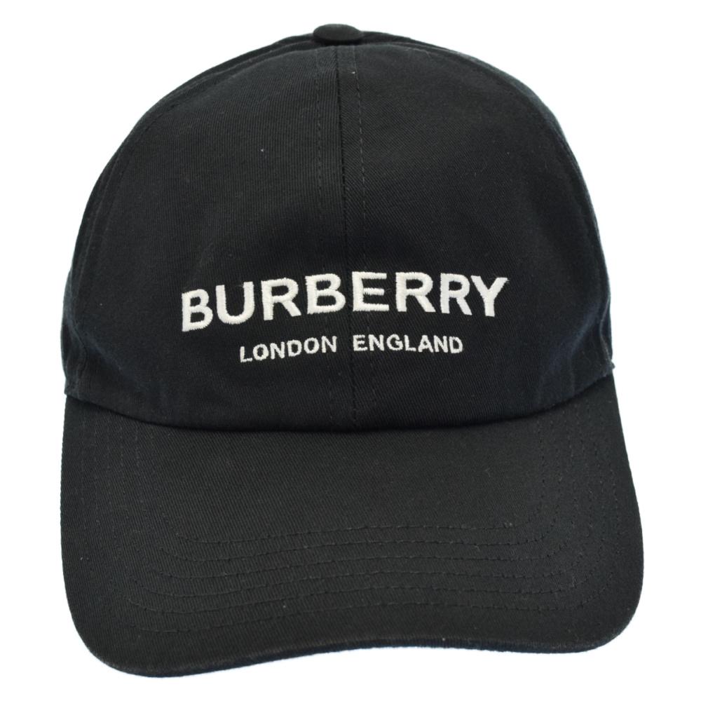 BURBERRY バーバリー エンブロイダリー ベースボールキャップ ロゴ刺繍 8010635 中古 程度AB 公式ショップ ブラック 取扱店舗新宿 新作からSALEアイテム等お得な商品 満載 帽子 カラーブラック