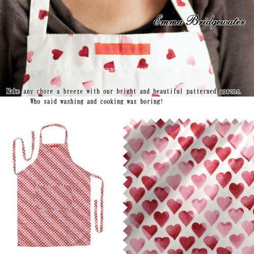 에마・브릿지 워터 에이프런/핀크하트Emma Bridgewater Pink Hearts Apron・영국제 10 P13Dec13