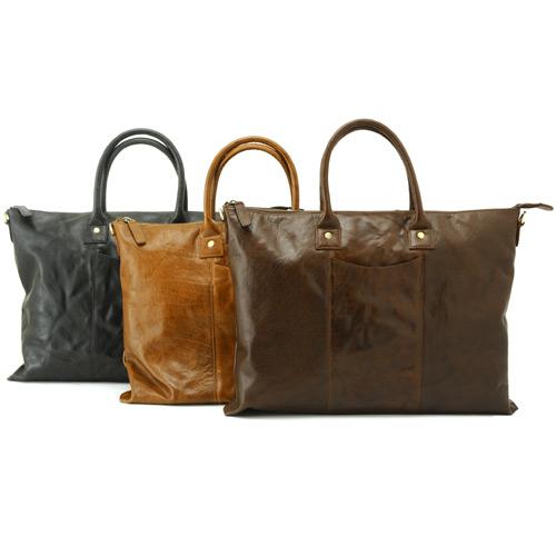 バッファローバーニッシュ ジップアップ薄マチブリーフ 高級本革ビジネスバッグ