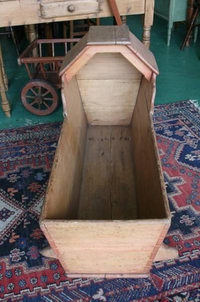 英国 イギリスアンティーク家具 パイン馬槽形ゆりかご 1870年頃 英国製187-B