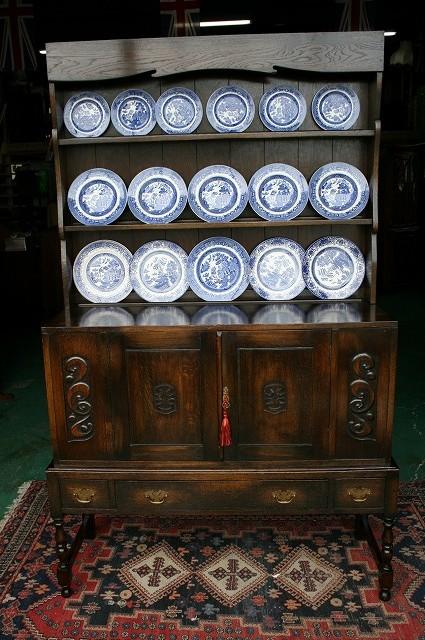 英国 イギリスアンティーク家具 ドレッサー カップボード 1890年頃 英国製7
