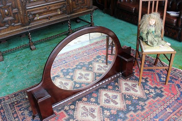 英国 イギリスアンティーク家具 壁掛け/ミラー 鏡 1960年頃 英国g93