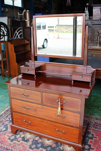 英国 イギリスアンティーク家具 ドレッサー ドレッシングチェスト 鏡台 1910年代  英国製 253a