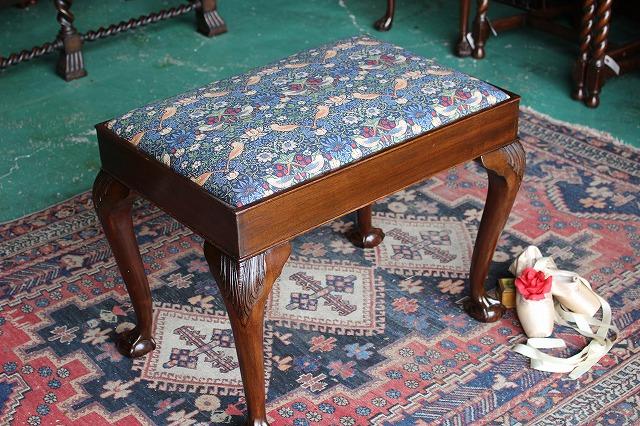 イギリスアンティーク家具 スツール ウィリアムモリス/スツール チェア 椅子 1910年頃 英国製y51
