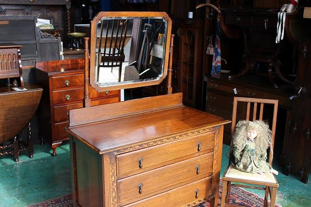 英国 イギリスアンティーク家具 ドレッシングチェスト アンティークドレッサー ミラー/チェスト 1920年代 英国製y119a