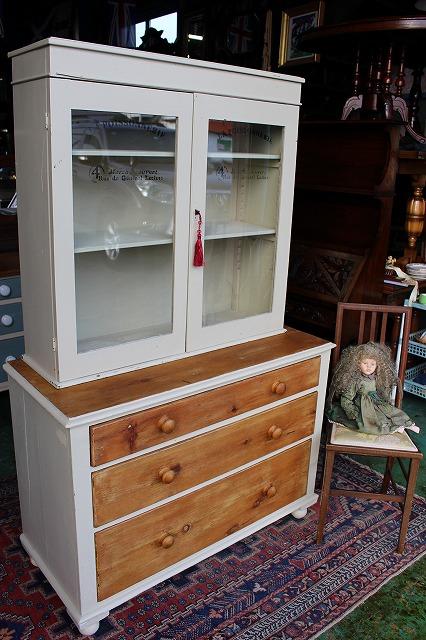 イギリスアンティーク家具 アンティークドレッサー アンティークキャビネット アンティークチェスト 1890年頃 英国製n82