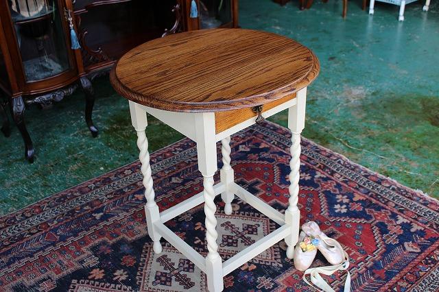 イギリスアンティーク家具 ペイント/オケージョナルテーブル サイドテーブル テーブル 1920年頃 英国製 n98