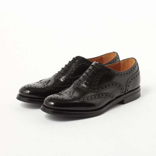 【Church's/チャーチ】BURWOOD LADIES/バーウッド(ラバーソール/ポリッシュドバインダーカーフ)(レディース 革靴 ウィングチップ バーウッド ラバーソール エッグトゥ)