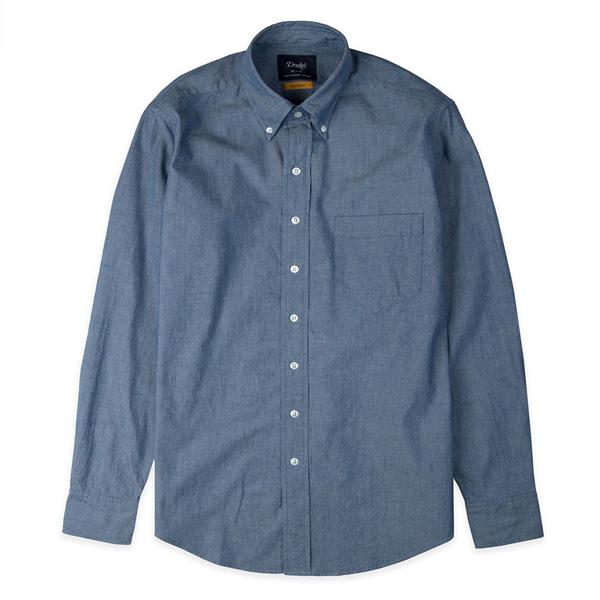 【DRAKE'S/ドレイクス】レギュラーフィットシャンブレーシャツ(ボタンダウン)(メンズ カラーシャツ)