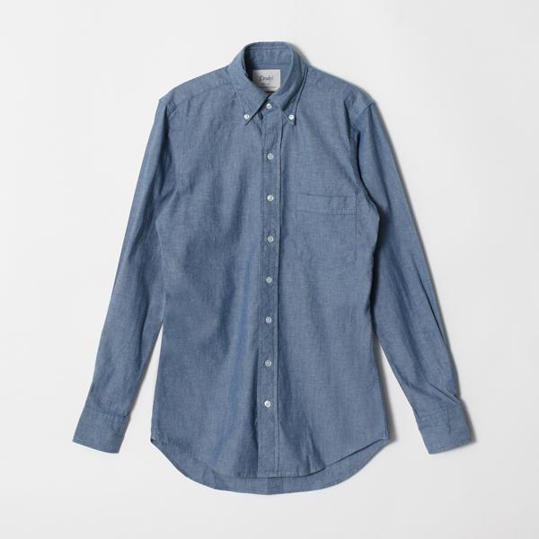 【DRAKE'S/ドレイクス】シャンブレーシャツ(ボタンダウン)(メンズ シャンブレー ボタンダウン シャツ イギリス製)