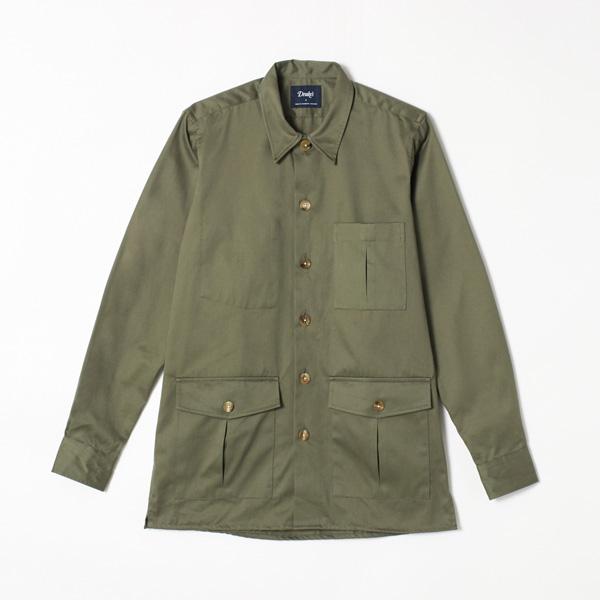 【DRAKE'S/ドレイクス】コットンオーバーシャツ(メンズ コットン オーバーシャツ ワークジャケット イギリス製)