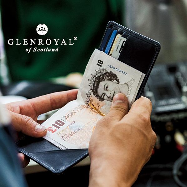 【名入れ(刻印)対象商品】【GLENROYAL/グレンロイヤル】MONEY CLIP WITH COIN POCKET(フルブライドル)(マネークリップ メンズ レディース レザー 本革 財布 小銭 カード 誕生日 ギフト)