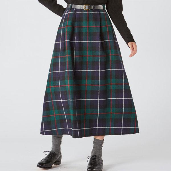 【SALE/セール】【マカラスター】[別注]ウールタータンチェックスカート(WOMEN) 全2色 レディース スカート ロング フレア TARTAN CHECK SKIRT MACALASTAIR