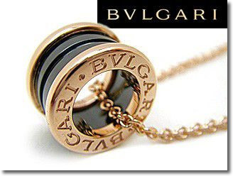 Bulgari Bvlgari Necklace ビーゼロワン Pendants K18 Pink Gold Amp Black Ceramic Cl855762